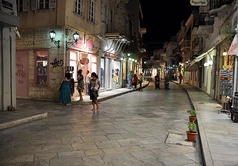 The beautiful streets in Ermoupolis.