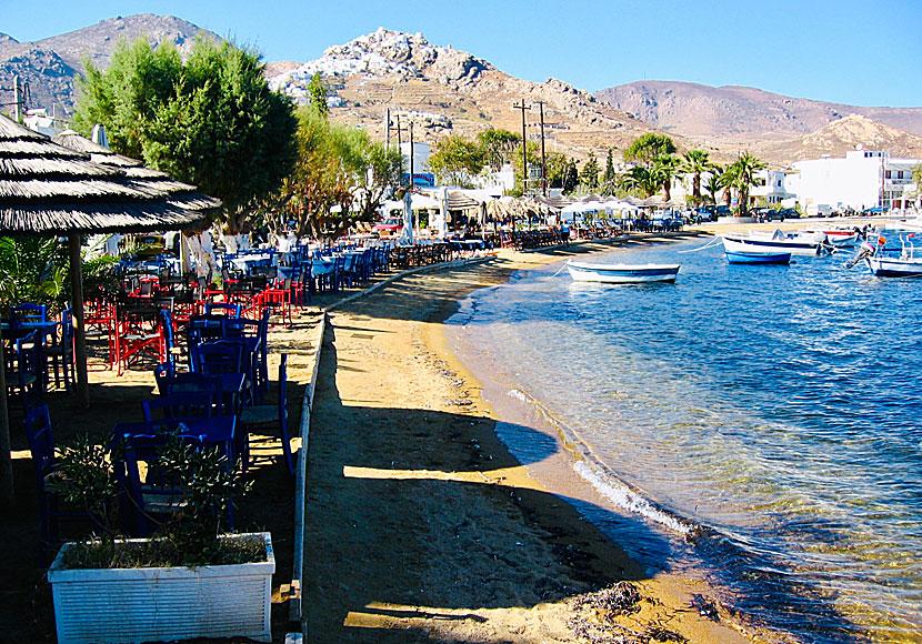 Livadi in Serifos. Accommodation. Restaurants. Beach.
