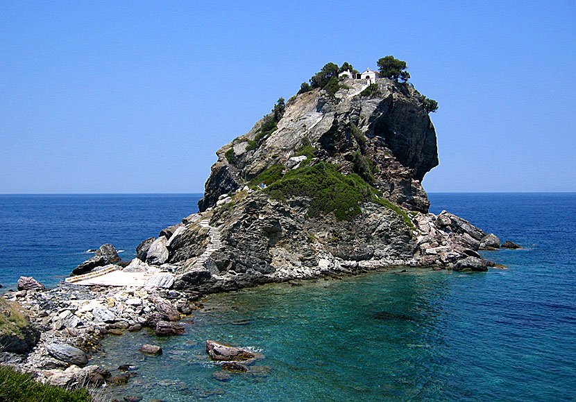 Agios Ioannis sto Kastri in Skopelos. Mamma Mia. Beach.